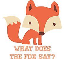 CARTOON FOX Photographic Print