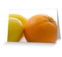 Orange & Lemon Greeting Card