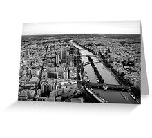 The Seine #1 Greeting Card