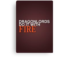 Dragon Lord Poster 2 Canvas Print