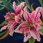 Pink and White Lillies by Martha Mitchell