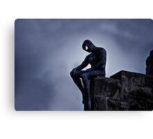 Black Spider-Man Canvas Print