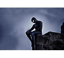 Black Spider-Man Photographic Print