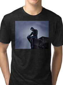 Black Spider-Man Tri-blend T-Shirt