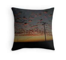 """Sunset Down The Line . . . "" Throw Pillow"