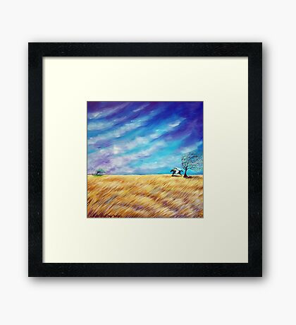 Leave your bags behind you Framed Print