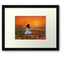 Dancing among the Poppies Framed Print