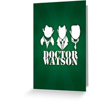 Doctor Watson Poster Greeting Card