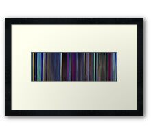 Moviebarcode: The Last Unicorn (1982) Framed Print