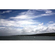 New Quay Sail Boats Photographic Print