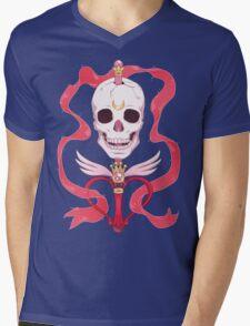 Moon Skull Mens V-Neck T-Shirt