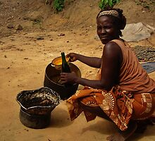 Bottling palm oil - Ayukaba village Cameroon by stephangus