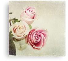 Happy Girls~ spring roses Canvas Print