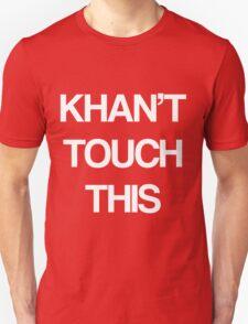 Khan Touch This (white) Unisex T-Shirt