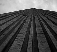Looking Up The Wall Of City Hall by Gary Chapple