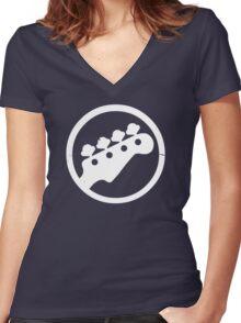 Scott Pilgrim Bass  Women's Fitted V-Neck T-Shirt