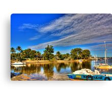 Clear Water Blue Sky Canvas Print