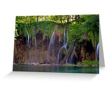 Waterfalls @ Plitvice Greeting Card