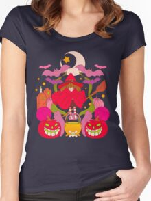 All spooky and red Women's Fitted Scoop T-Shirt