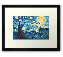 Starry Jirachi Framed Print