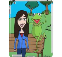 Krista Allen & Kermit the frog - tribute cartoon / comic art iPad Case/Skin
