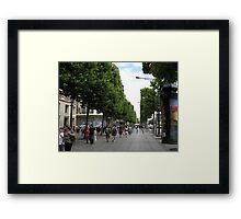 Champs Elysees Framed Print