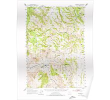 USGS Topo Map Oregon Monument 282730 1951 62500 Poster