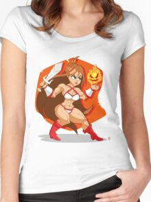 Flames of Fury (Golden Axe) Women's Fitted Scoop T-Shirt