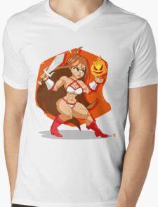 Flames of Fury (Golden Axe) Mens V-Neck T-Shirt