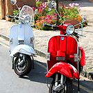 Red and White Scooters by chris-csfotobiz