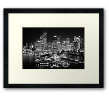 The City of Sydney at night Framed Print