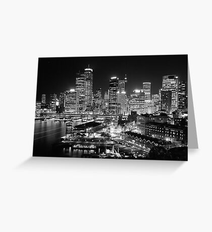 The City of Sydney at night Greeting Card