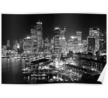 The City of Sydney at night Poster