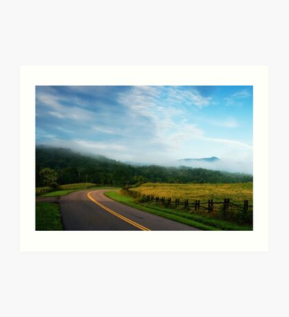 Blue Ridge Parkway Art Print