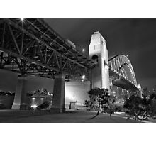 Sydney Harbour Bridge at night Photographic Print