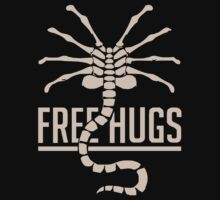 INSPIRED BY ALIENS FREE HUGS SCI-FI FILM FUNNY UNOFFICAL Kids Clothes