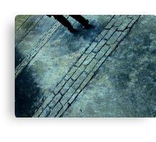 Blue Rain Walking Canvas Print