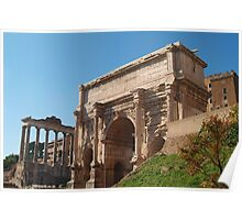 ARCH OF SEPTIMIUS SEVERUS, Rome, Forum Poster