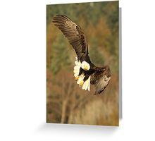 With the Presence of a Full Moon, The Eagle Soared Greeting Card