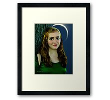 Mina by Moonlight Framed Print