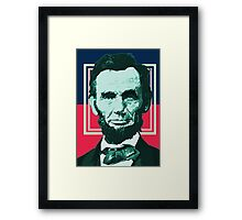 Abraham Lincoln - Retro Framed Print