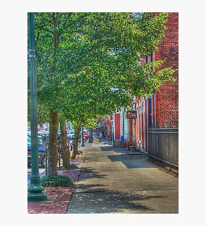 Sidewalk Scene Photographic Print