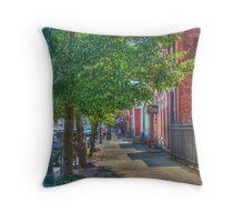 Sidewalk Scene Throw Pillow