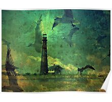 Lighthouse In The Night Poster