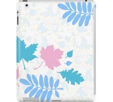 Pastel Leaves Pattern iPad Case/Skin