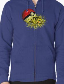 Real pikachu  Zipped Hoodie