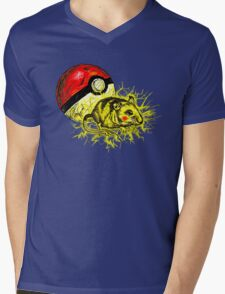 Real pikachu  Mens V-Neck T-Shirt
