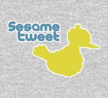 Sesame Tweet - Blue Text Baby Tee