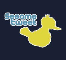 Sesame Tweet - Blue Text One Piece - Short Sleeve