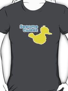 Sesame Tweet - Blue Text T-Shirt